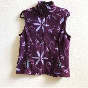 Patagonia floral synchilla vest